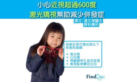 小心近視超過600度 激光矯視無助減少併發症